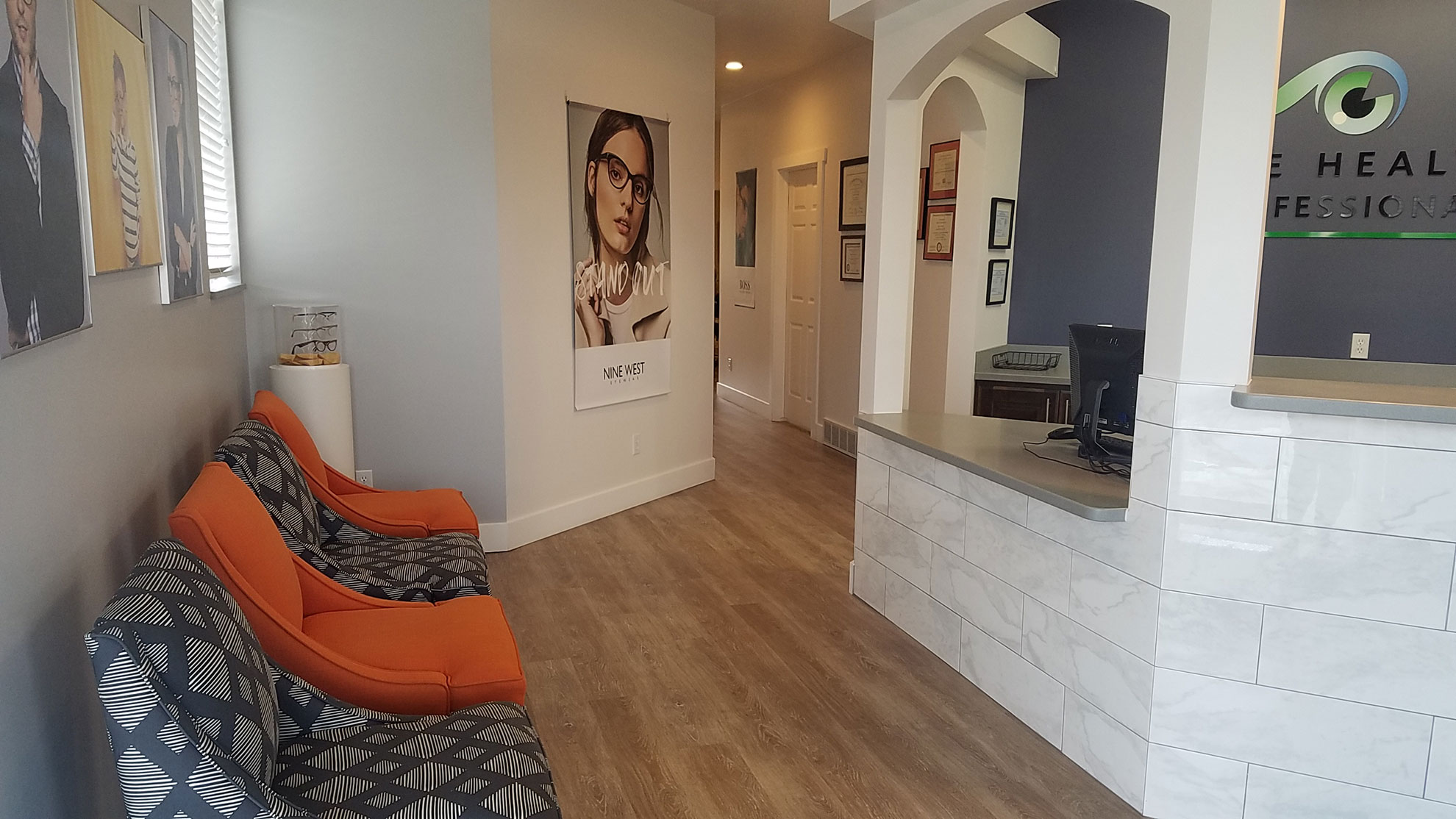 Front Desk area at Eye Health Professionals